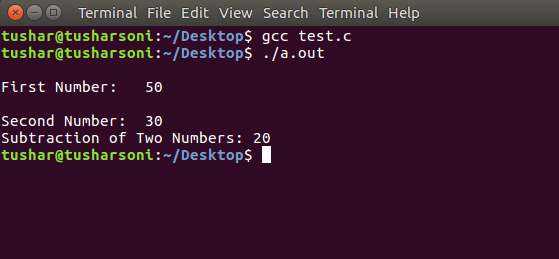 C Program To Subtract Two Numbers using Pointers