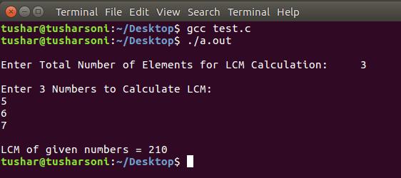 C Program To Find LCM of N Numbers using Functions, Array, While Loop, For Loop