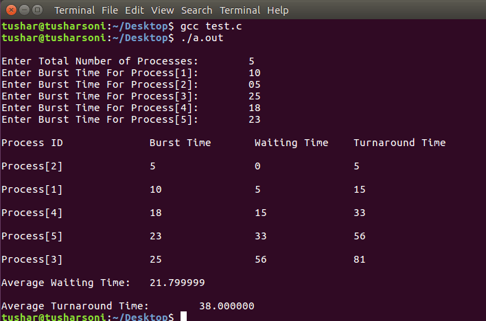 Shortest Job First Algorithm in C Programming with Preemptive Scheduling Program in OS