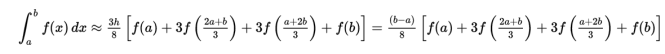 Simpson's 3/8 Rule Formula with Example, Output