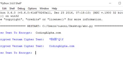 vigenere cipher program in c