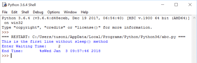 Python Sleep Method Explained To Implement Python Wait, Sleep, Delay, Pause and Stop functionalities