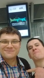 Bartek and me on Boiling frogs