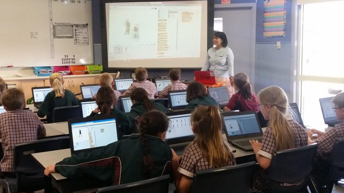 Coding kids Scratch class