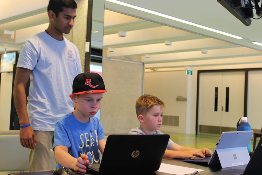 learning to code at school holiday coding camp