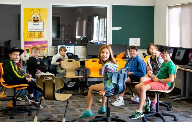 Coding kids students at Hendra