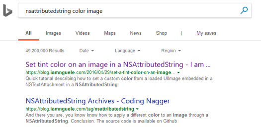 nsattributed string coding nagger bing