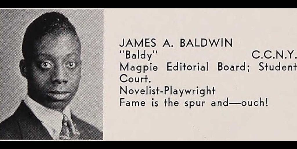 James Baldwin, Dewitt Clinton High, Bronx 1942 Dude knew what he wanted.