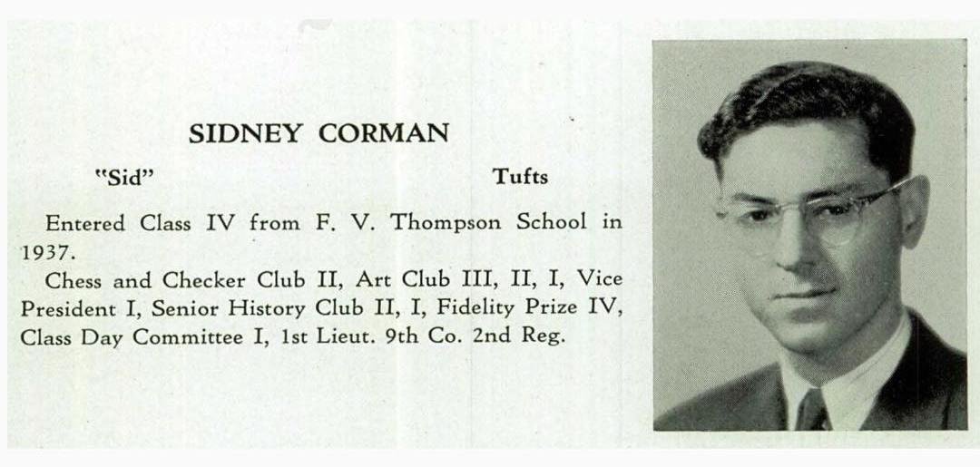 Cid Corman, Boston Latin, 1941