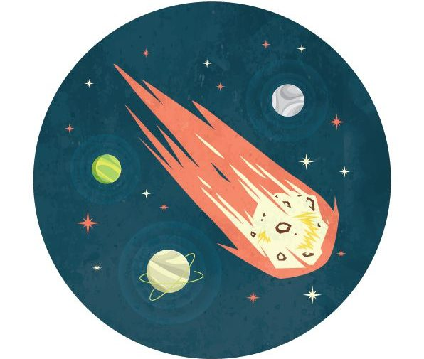 meteor in space