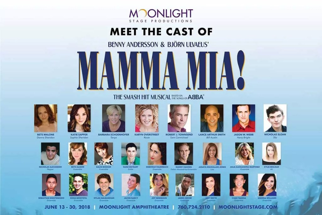 2018 Cast of Moonlight Stage Production's Mamma Mia!