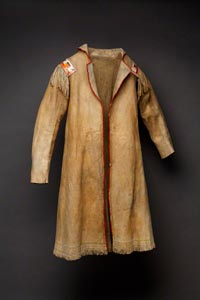 Northeastern Cree hide Coat, c. 1740. Photo by Addison Doty.