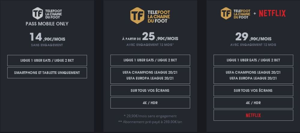 TV - Mediapro dévoile ses différentes offres d'abonnements
