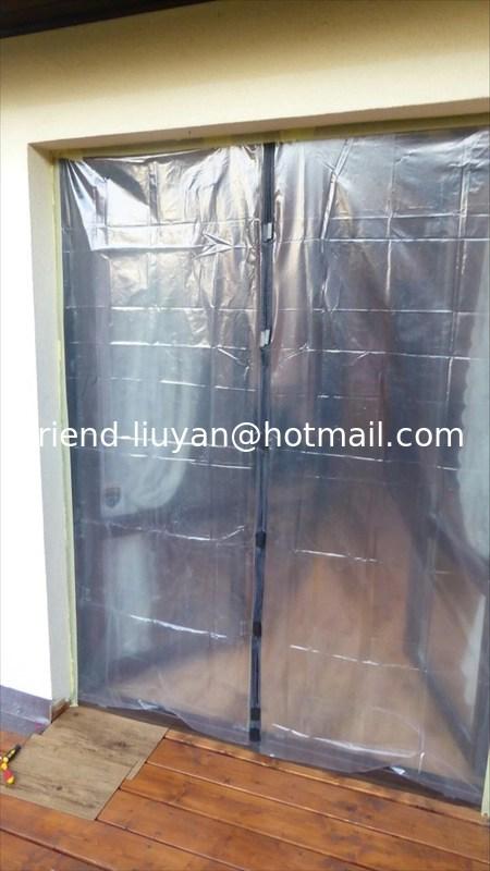 anti dust plastic film door curtain 100 220cm for decoration building