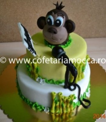 Tort pentru copii maimutica cu microfon oradea (84)