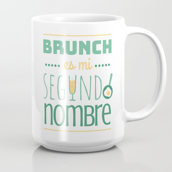 "Taza 450 ml ""Brunch es mi segundo nombre"""
