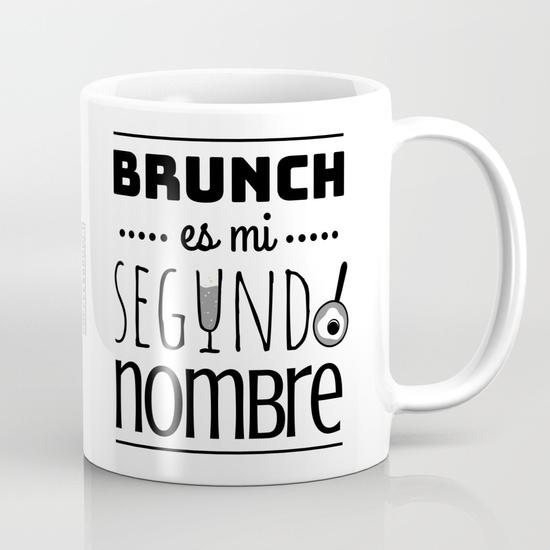 """Taza 300 ml """"Brunch es mi segundo nombre"""" B/N"""