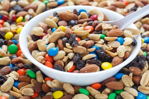 trail mix baby shower favor