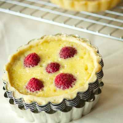 Raspberry Custard Tartlets