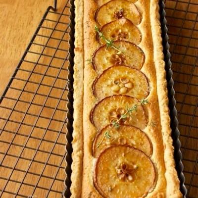 Forelle Pear and Thyme Frangipane Tart