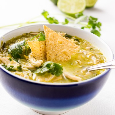 White Chicken Chilli with White Chocolate and Lime