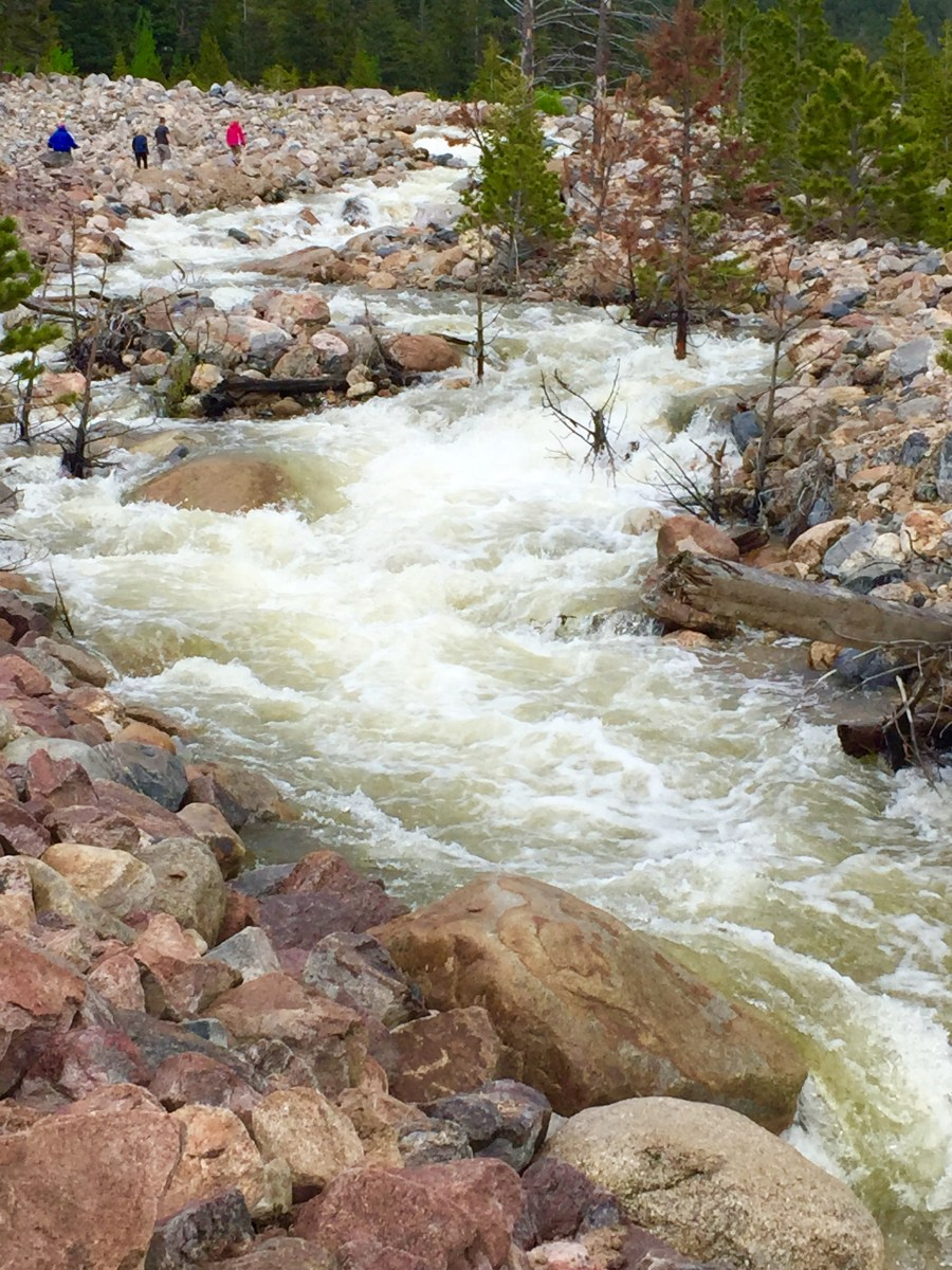 rushing water at Alluvial Fan area at RMNP