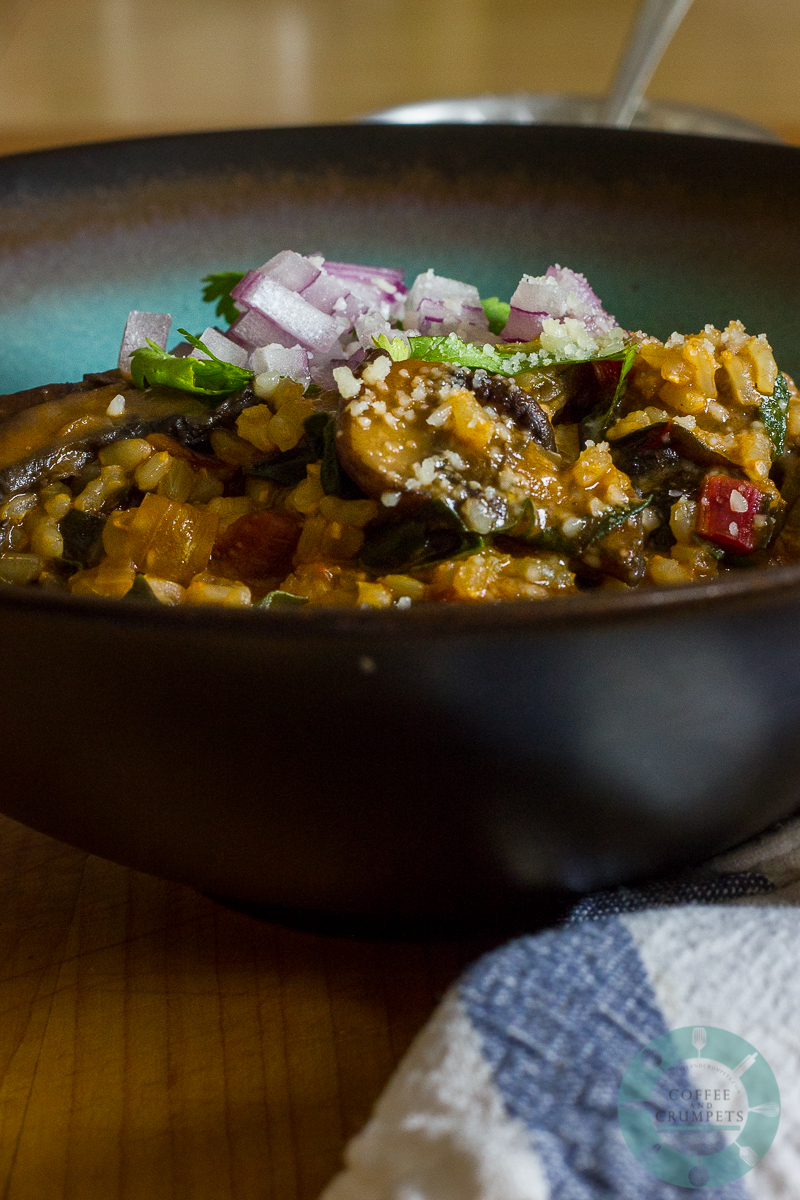 Red Chard and Mushroom Risotto-7