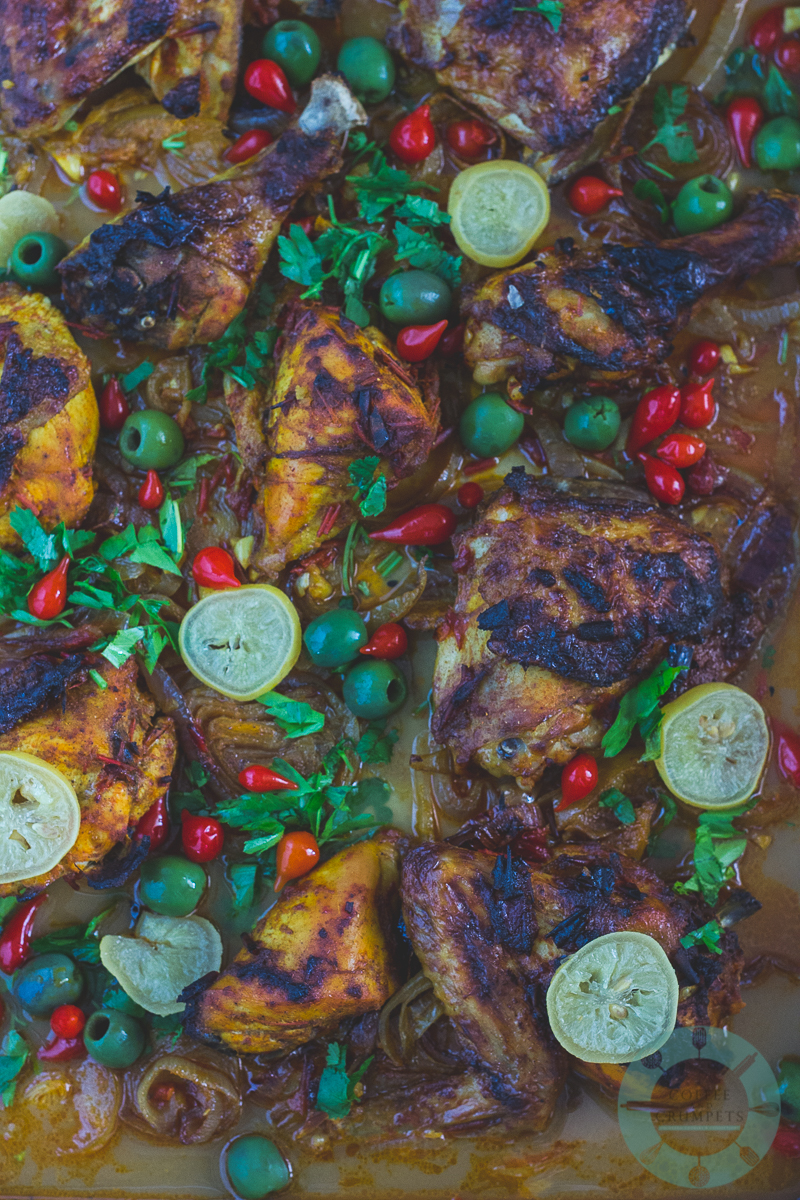 Chicken with Preserved Lemons and Olives-