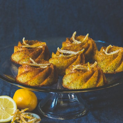 Meyer Lemon Poppy Seed Bundtlets