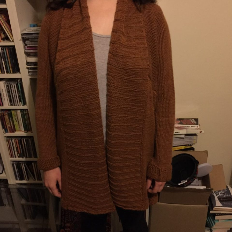 Glacier Cardigan - The Finished Cardigan