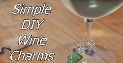 Simple DIY Wine Charms
