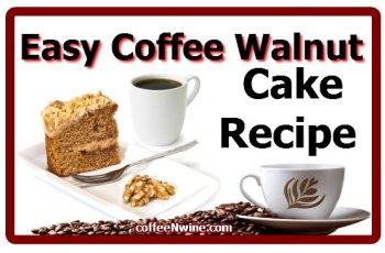 Easy Coffee Walnut Cake Recipe