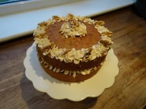 Coffee & Walnut Cake  (Mascarpone cream filling). . . how to… (Easy Coffee Walnut Cake Recipe)