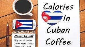 Calories In Cuban Coffee Image