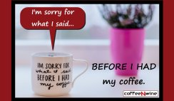 I am Sorry For What I Said Before I Had My Coffee Image