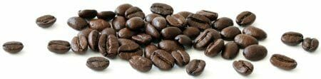 coffee beans spread horizontally