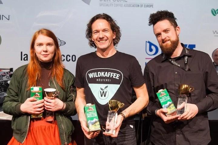 Kaffeemeisterschaft - Latte Art Gewinner