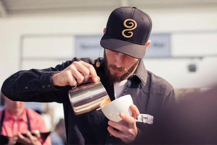 Kaffeemeisterschaft Latteart Yuri Marschall