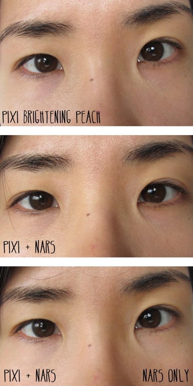 pixi correction concentrate brightening peach comparison