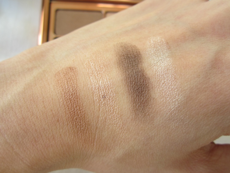 rosie for autograph eyeshadow quad i feel like a million dollars swatches
