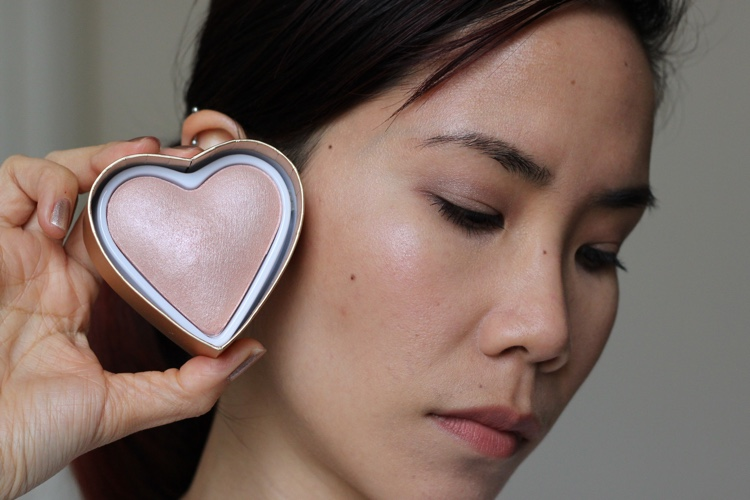heart makeup blushing hearts highlighters goddess of love