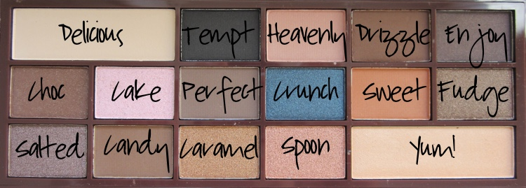 i heart makeup salted caramel names
