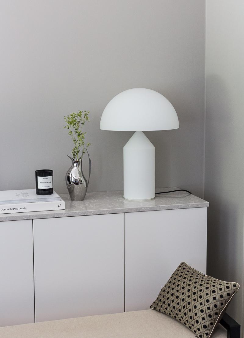Finnish Design Shop lahjakortti arvonta, Oluce Atollo 237 design-valaisin, klassikko pöytävalaisin, Coffee Table Diary blogi