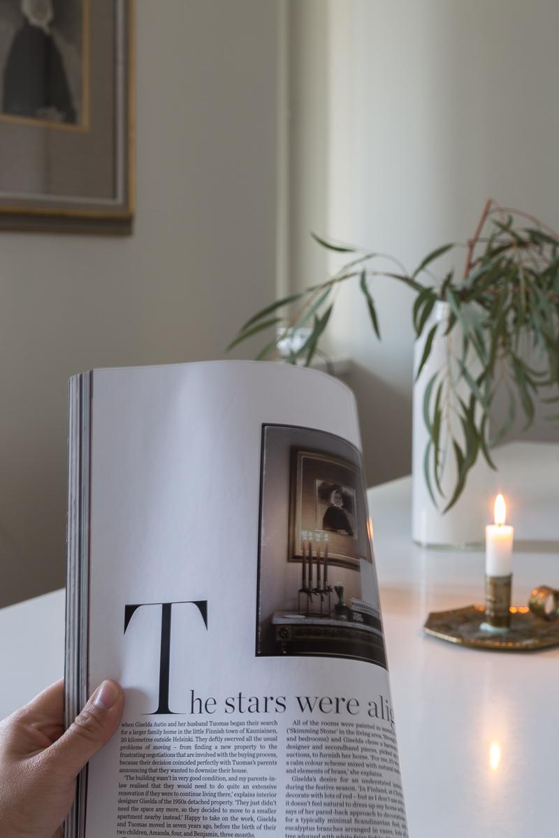 koti sisustuslehdessä, suomalainen koti ulkomaisessa sisustuslehdessä, Elle Decoration UK lehti