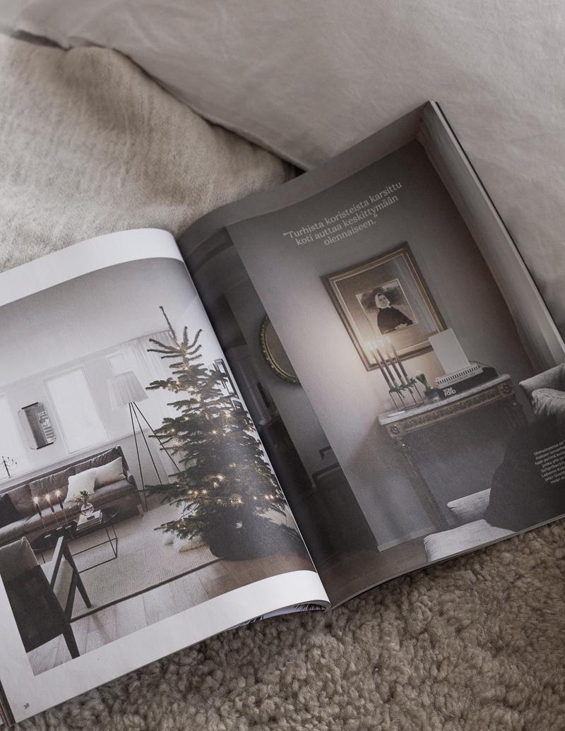 lomatunnelmia, joulu 2019, joulukoti lehdessä, Kauneimmat joulukodit
