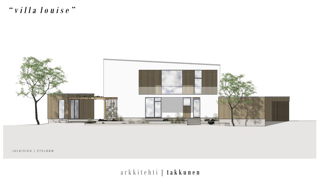 Talo Villa Louse, Arkkitehti Takkunen, taloprojekti Coffee Table Diary, moderni kivitalo