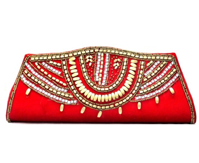 Embroidered Clutch-party clutch-ethnic-Indiaru