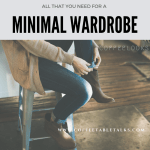 how to have a minimal wardrode