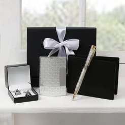 Cufflinks, wallet and pen