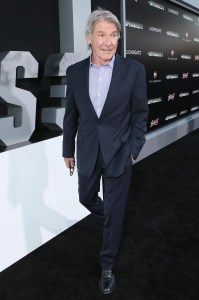Harrison Ford at the August 11th premiere of The Expendables 3